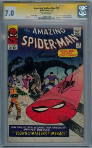 Amazing Spider-man #22 CGC 7.0 Signature Series Signed Stan Lee Silver Age Marvel comic book